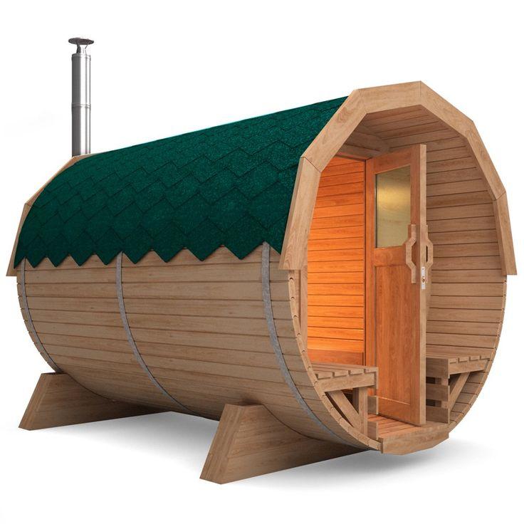 Fasssauna saunafass tonnensauna 3m inkl harvia holzofen for Garten pool 3m
