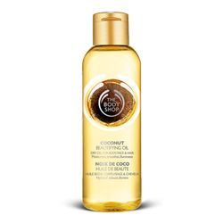 Coconut Beautifying Oil .. Skin, hair, face, I use it for everything!  (The Body Shop)