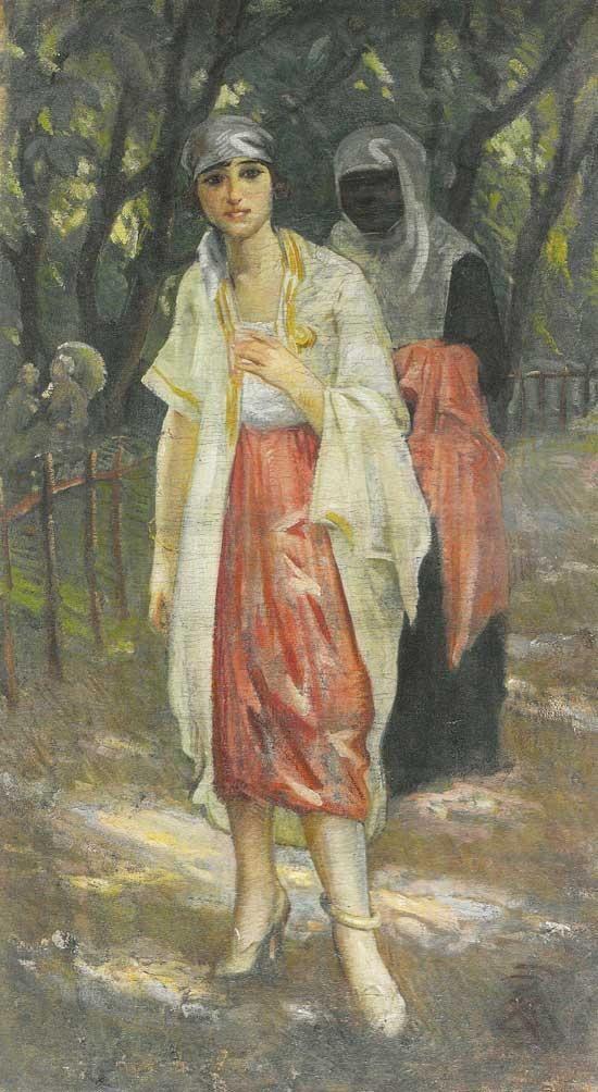Saraylı hanım ve hizmetkarı - İbrahim Çallı