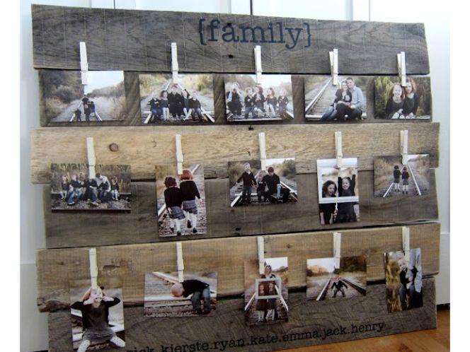 14 family photo walls