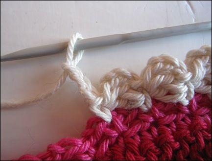 scallop crochet edge tutorial