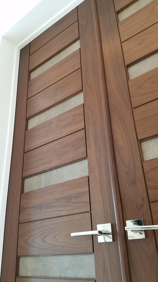 Gorgeous Trustile walnut doors with leather inserts recently installed in a Ft Lauderdale residence & 46 best TruStile Doors images on Pinterest | Entrance doors Entry ...