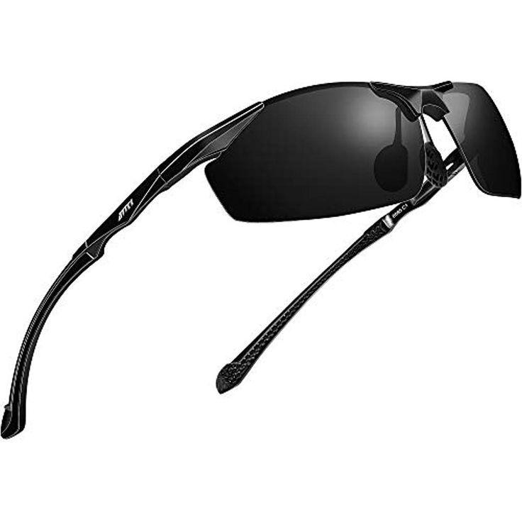 ATTCL Herren Polarisierte Sonnenbrille Al Mg Metallrahme Ultra leicht