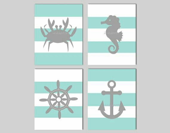 Cuadros de pared estilo marinero