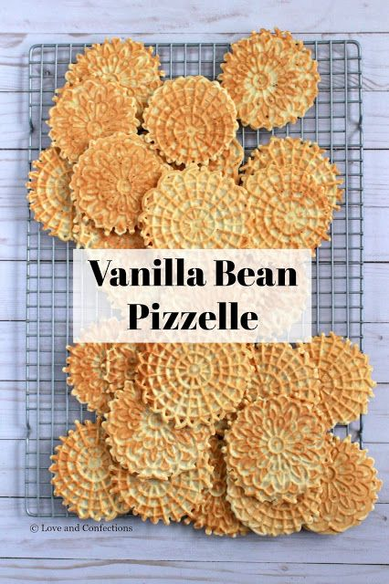 Vanilla Bean Pizzelles from LoveandConfections.com #sponsored #christmascookies