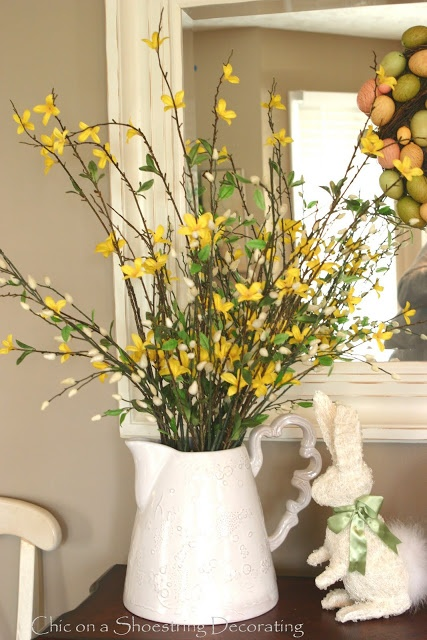 forsythia and pussywillow branches