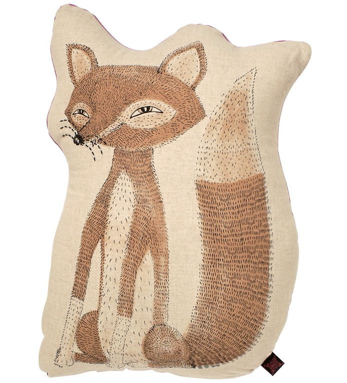 Cushion - linen with hand screen print