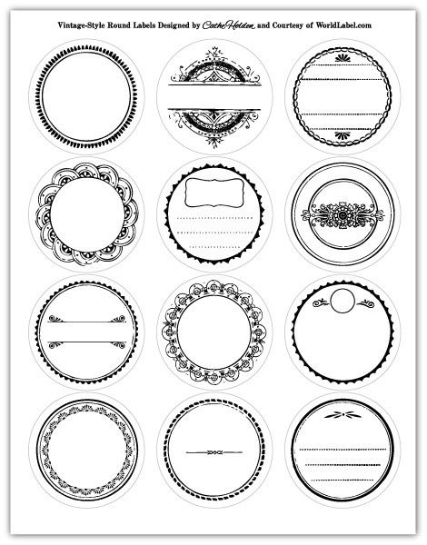 Printable round labels