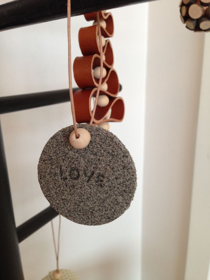 Selvhærdende ler, træperler, love, ornament, jul Clay, wood pearls, christmas, ornaments