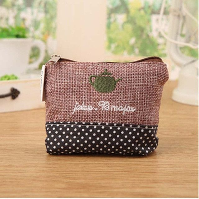 New Arrival Times Style Women Cheapest Canvas Coin Purse Classic Money Purse Small Mini Short Coin Key Holder Wallet ElUnico