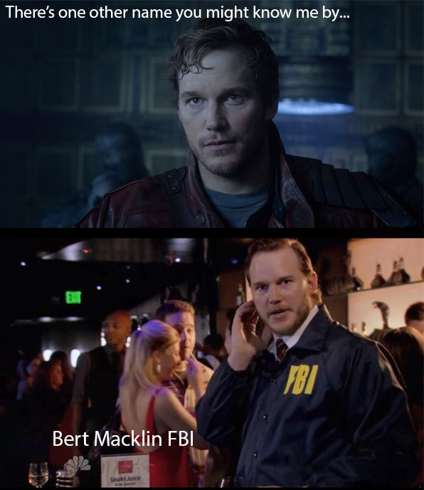 My thought during Starlord's introduction