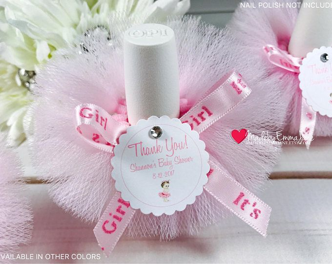 10 Baby Boy Baby Shower Favors Nail Polish Tutu Favors Nail Polish Tutus Baby Boy Favors with Custom Tags Baby Shower Favors It/'s a Boy