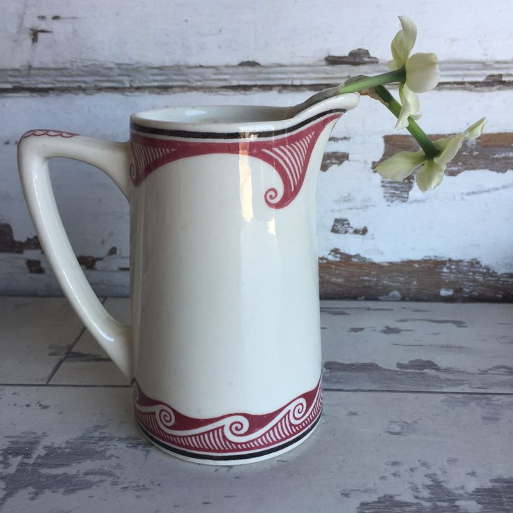 Vintage Sante Fe Cocoa Pot - Syracuse Mimbreno RARE  Restaurant Ware Creamer Pitcher by TheClassicButterfly on Etsy