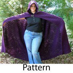 crochet full length cloak pattern