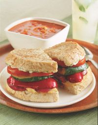 Grilled Vegetable Sandwiches - Healthy Recipe Finder | Prevention