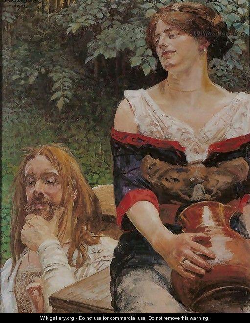 Christ and the Samaritan Woman - Jacek Malczewski