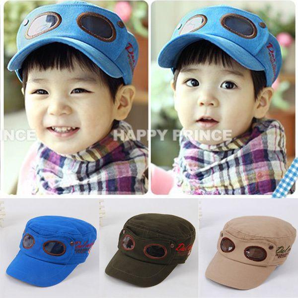Pas cher Hot mignon bébés garçons chapeau casquette de Baseball Sun chasse lunettes pilotes imprimer chapeau, Acheter  Chapeaux et Casquettes de qualité directement des fournisseurs de Chine:       Condition: 100% tout neuf et de haute qualité                Matériel: mélanges de coton                Couleur:
