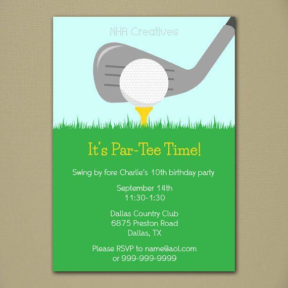 Invitación fiesta de golf archivo Digital por NHACreatives en Etsy