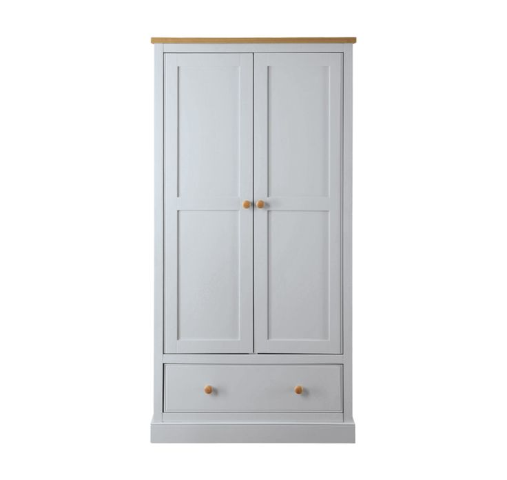 This beautiful Corina Double Door Wardrobe has a subtle, timelessappearancethat looks great in bothcontemporary and traditional bedrooms. Its charming,soft