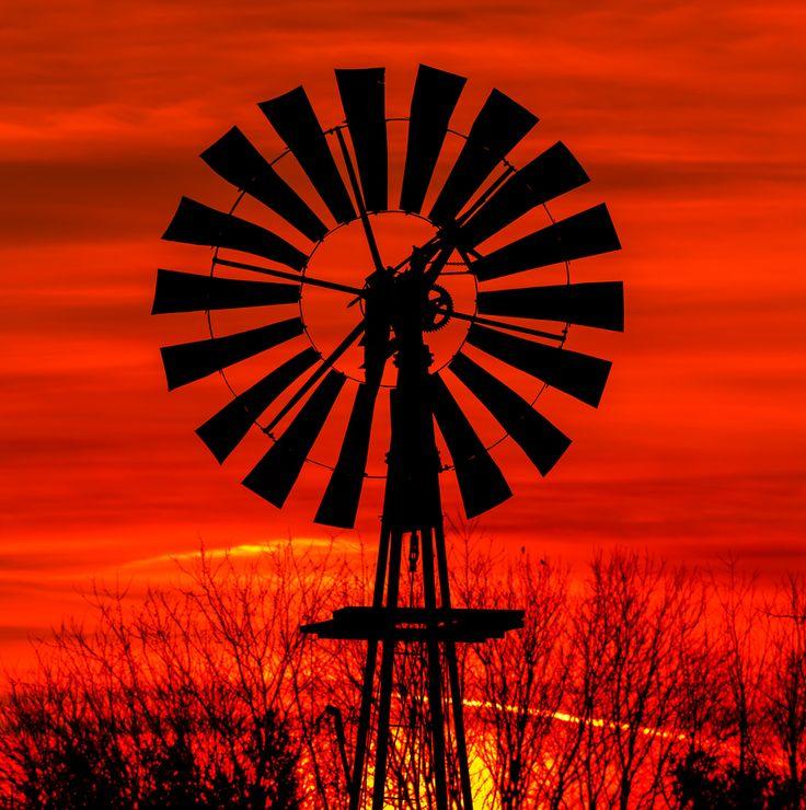 Windmill Dawn by Kenneth Keifer, via 500px