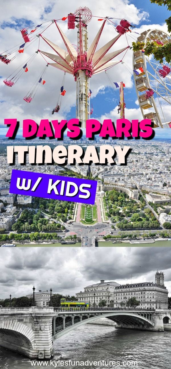 Planning to visit the most popular tourist destinations in the world? Check our family friendly 7 days itinerary to Paris. The City of Lights definitely has so many terrific things to see and fun activities to do with family, friends or by yourself.  #paris #travel #europetrip #pariswithkids #parisitinerary #parisattractions