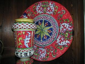 piatto in ceramica artistica www.leceramichedigabriella.com