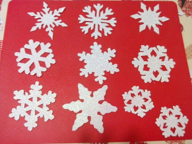 Crepla goma eva foamy glitter shining snowflakes diy christmas ornaments decoration craft handmade template