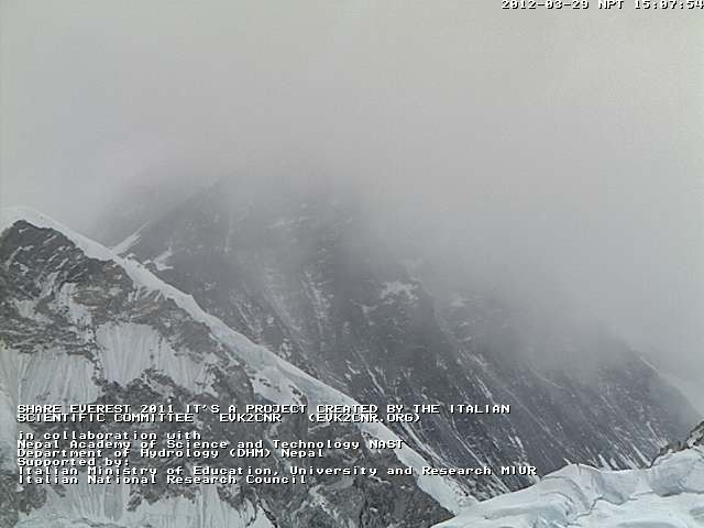 Let's face it; climbing Mount Everest, the highest mountain in the world, is no easy feat. However, if you've ever had the urge to see what the summit of Everest looks like, there's a safe way to do so from the comfort of your own home. The Mobotix webcam will let viewers see images of Everest's summit updated every five minutes during the hours of 6 a.m. and 6 p.m. Check out the live images at evk2cnr.org