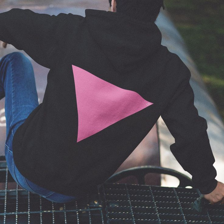 Pink Triangle back Hoodie – Multi Colour by BetweenLinesClothing on Etsy