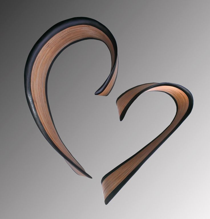 Chatham heart in wenge by kerry vesper wood wall