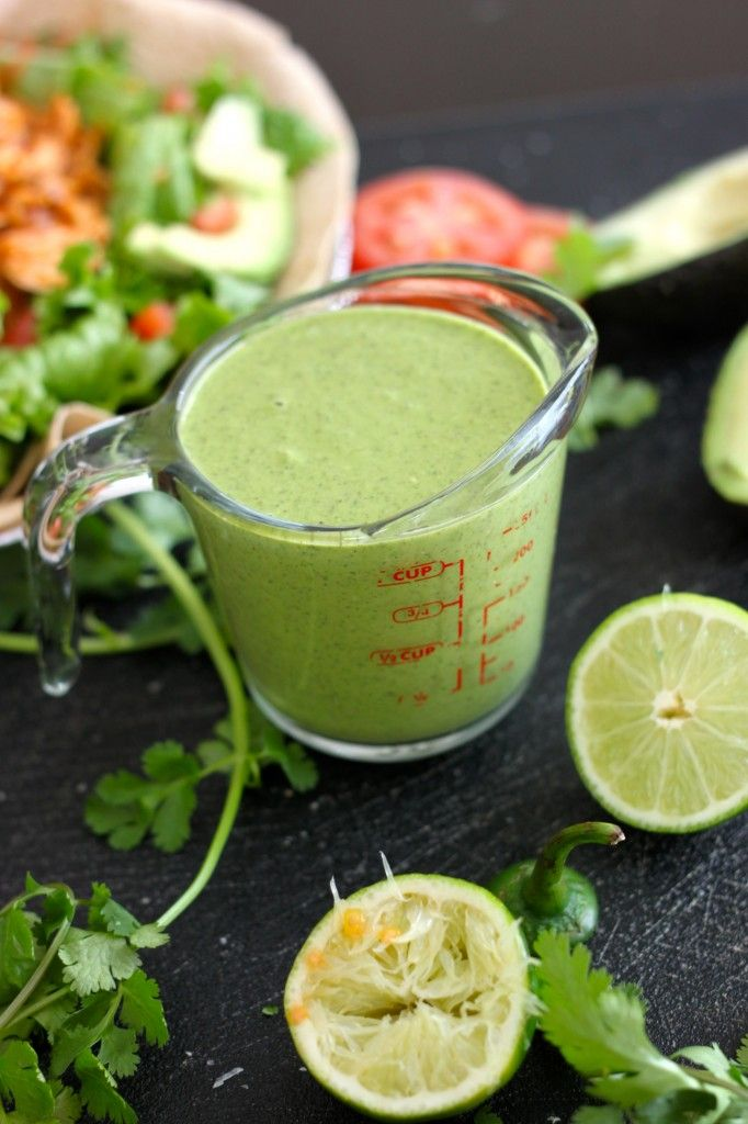 Homemade Cafe Rio Creamy Cilantro Dressing