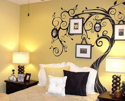 Abstract Tree Wall Stickers Murals for Modern Small Bedroom Wall Decoration Design Ideas