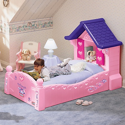 buy little tikes princess cozy cottage toddler bed online at john lewis