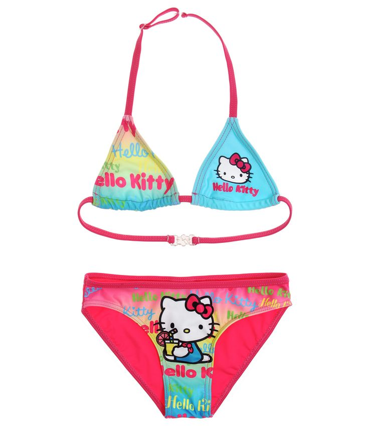 Hello Kitty Bikini pink #HelloKitty #Bikini #Mädchen #Kindermode