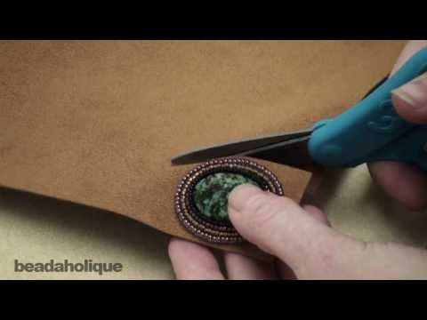 * Bead Embroidery: How to Trim the Foundation and Attach the Backing