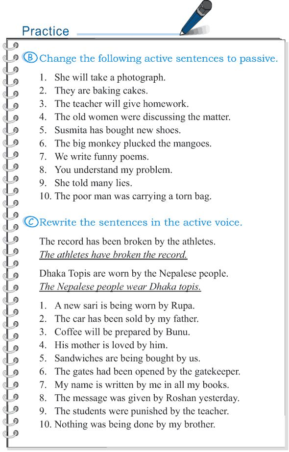 writing in passive voice