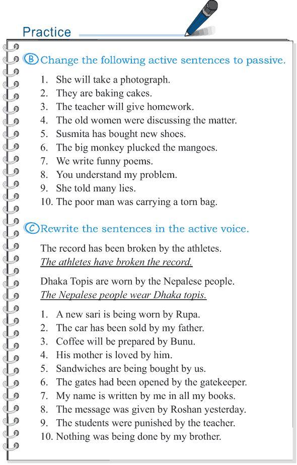 Grade 5 Grammar Lesson 12 Voice active and passive (4)