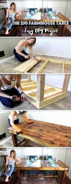 The $50 Farmhouse Table – Easy DIY Project – Steve Stotler