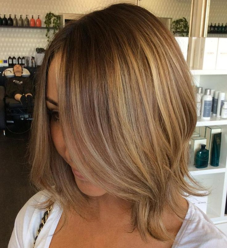 Brown Blonde Bob For Fine Hair