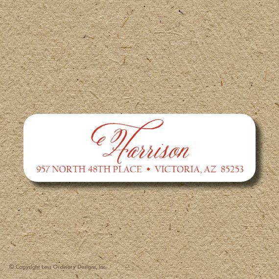 return return address stickers selfadhesive  by saralukecreative, $19.50