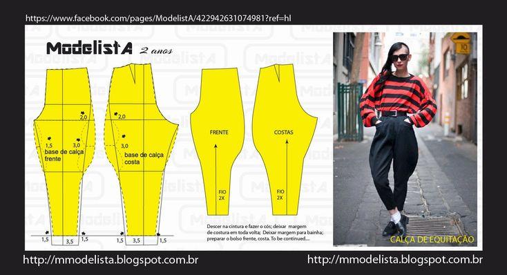 A calça de equitação, ou de montaria é um tipo de calça bem justa do joelho para baixo e cintura alta, de tecido bastante flexível e mal...