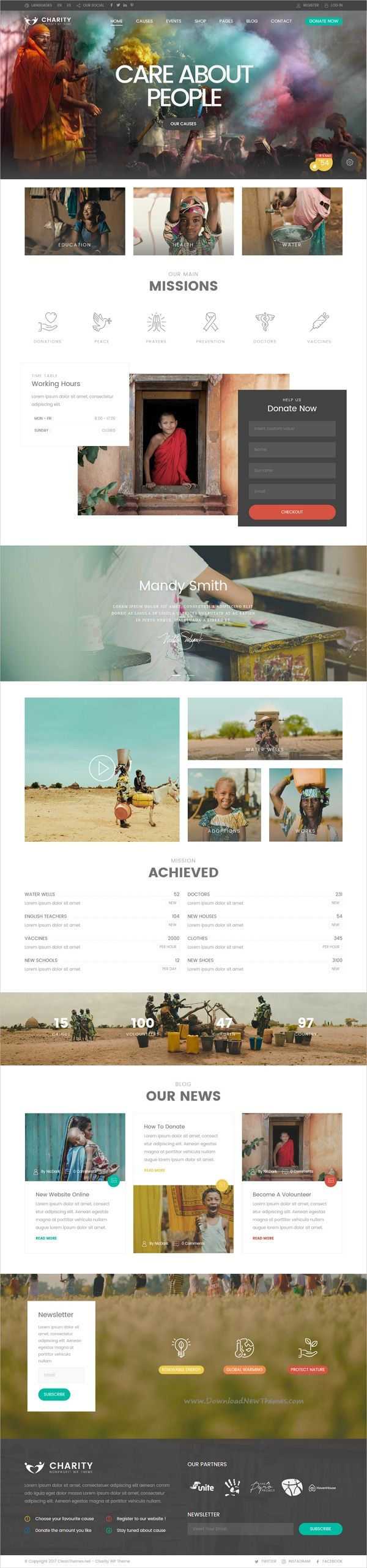 Charity foundation is clean and modern design responsive #WordPress theme for all kind of #Charity, #Fundraising, NGO, Church and other #nonprofit organizations website download now➩ https://themeforest.net/item/charity-foundation-charity-hub-wp-theme/19763204?ref=Datasata