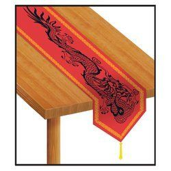 Beistle Printed Asian Table Runner by The Beistle Company. $3.50. Paper Material. Party Accessory. Table Decoration. Size is 11-Inch by 6 Foot. 1 per package. Printed Asian Table Runner, Measures eleven-Inch by six foot, paper material, great table decoration.