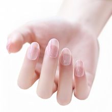 2015 Marbling gloss false nails decorated French unghie finte fake full cover press on faux ongles art decoration patch(China (Mainland))