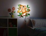 Äffchen Im Dschungel #Wandlampe #Kinderzimmer