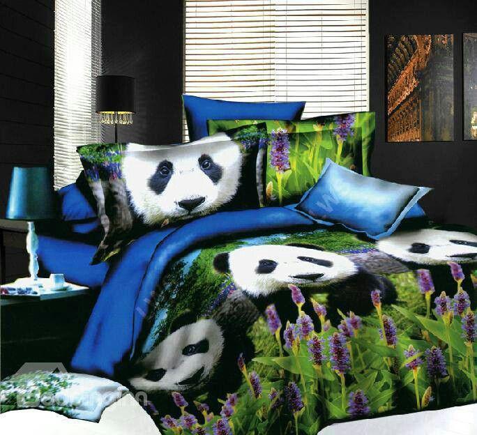 panda bed sheets 2