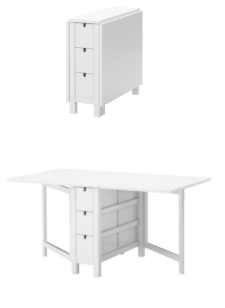 Norden Gateleg Table White Adjustable Table Ikea Office