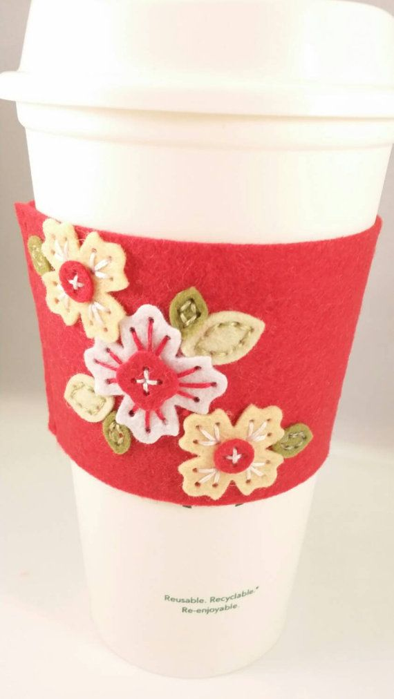 Check out this item in my Etsy shop https://www.etsy.com/listing/250675420/coffee-cozy-tea-cup-sleeve-felt-handmade
