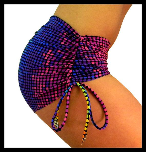 Hot Yoga Bum Bum Shorts in Discodot Bikram by KDeerHauteYogaWear, $42.00
