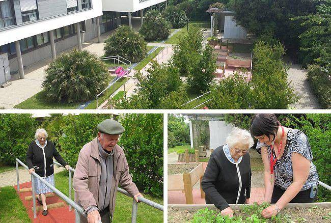 Trois étudiants de l'école d'ergothérapie rennaise Ifpek sont à l'initiative du jardin thérapeutique, mis en place il y a trois semaines à la maison de retraite de Cleunay. Dans le cadre de leur cursus, ils ont travaillé en partenariat avec l'équipe de l'Établissement pour personnes âgées dépendantes (Ehpad) et la direction des jardins de la Ville pendant près d'un an et demi.